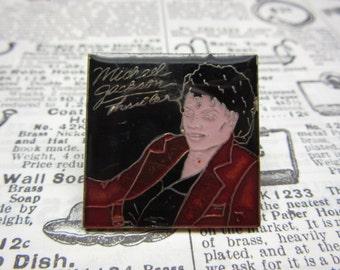 Vintage Michael Jackson Thriller Lapel Pin Original 1980s Era Retro Pop Music Metal Hat Pin vtg 80s MJ King of Pop Jacket Coat Button Pin