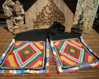 Black Hmong Folk Art Textile