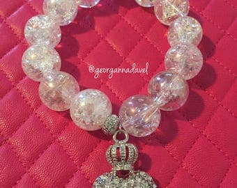 Clear bracelet with charm