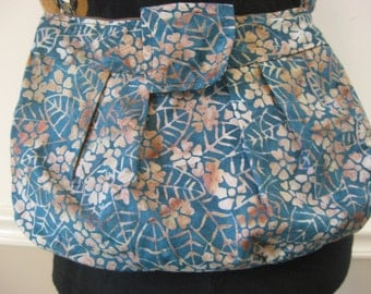 Blue and Tan Buttercup Purse