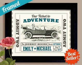 Road Trip Wedding Gift Antique Car Old Fashioned Wedding Gift See America Travel the Country Driving Car Ticket to Adventure Car Travel
