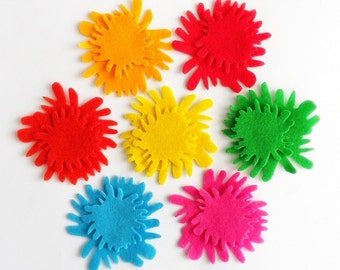 Felt Flower Ava 1, felt Shapes, 14 pieces, Felt flower, Die Cut Shapes, Applique, Party Supply, DIY Wedding, felt supplies, felt craft