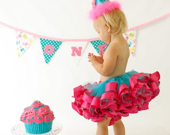 First Birthday Outfit, Ribbon Tutu, Birthday Tutu, Baby Tutu, Cake Smash Tutu, Baby Girl Tutu, Birthday Hat, Birthday Banner, Girls Birthday