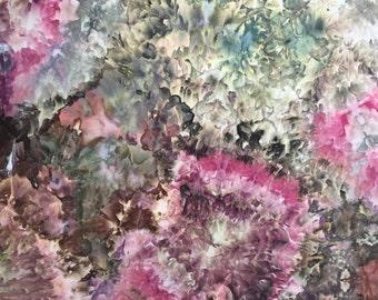 Ice Dyed Fabric, Hand Dye, Potpourri, Fat Quarter (MB) #19