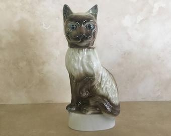 On Sale. Vintage James Beam Siamese Cat Decanter circa 1967 / Liquor Bottle