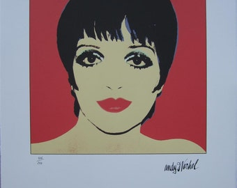 Andy Warhol Lithograph Liza Minnelli limited authenticated edition red