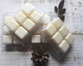 4 Clamshell packs melting tarts RUSTIC SCENTS soy and beeswax melters wax melters  clamshell tarts  rustic scented Montana made soy candles