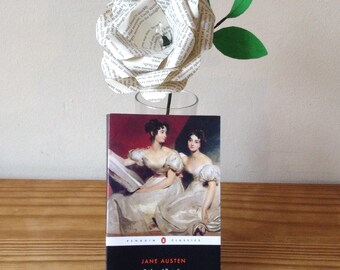 Paper flower rose bouquet pride and prejudice Jane Austen Single stem rose