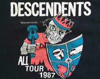 "vintage DESCENDENTS shirt - 1987 ""ALL"" Tour - Size Large/ Extra Large"
