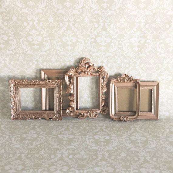 vintage style picture frames rose gold shabby by vintageevents. Black Bedroom Furniture Sets. Home Design Ideas