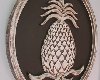 Pineapple Decor, Pineapple Welcome, Pineapple Plaque, Pineapple Wall Plaque, Home Decor, Welcome Sign, Outdoor Decor