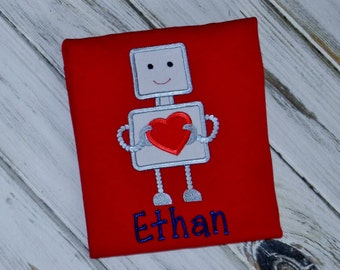 Valentine Robot Shirt / Personalized / Valentine's Day