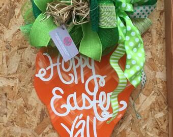 Easter carrot door hanger