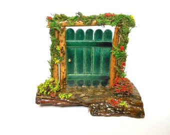 Fairy Door-OOAK-Decorated Fairy Garden Front Door-Stand Alone Fairy Door-Tooth Fairy Door