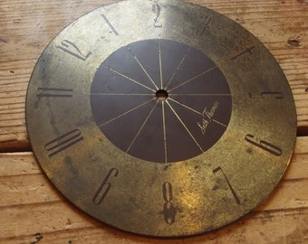Vintage Metal Clock face / found objects / Altered Art / Mixed Media Supplies / Assemblage /  Repurposed / upcycle / art dolls / clock parts