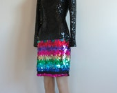 Vintage 1980's-9190's Bodycon Sequin Party dress/Sequin Bodycon Party Dress/Party Dress/Holiday Dress/FREE SHIPPING /