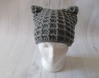 Waffle Kitten Hat