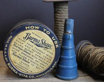 Vintage Burma Shave Jar //Vintage Advertising