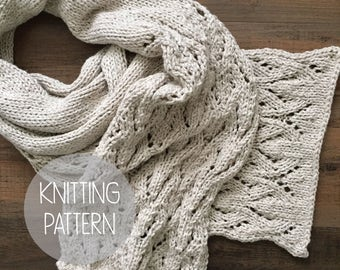 knitting pattern spring lace scarf - the wisteria lace scarf