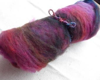 Hope Jacare - Approx 35g hand dyed Batt layers felt making / creative textiles BT05