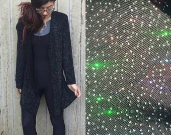 Vintage Sparkle Motion Glitter Cardigan Size S M