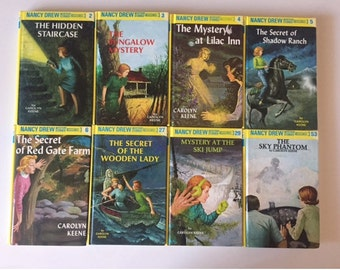 Lot of 8 Nancy Drew Mystery Stories by Carolyn Keene  (90's Reprints Hardcover)