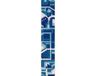 Circuit Board 2 Peyote Bead Pattern, Bracelet Pattern, Bookmark Pattern, Seed Beading Pattern Delica Size 11 Beads - PDF Instant Download
