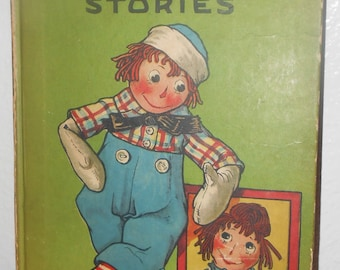 Vintage Raggedy Andy Book 1920 by Johnny Gruelle with many Colorful Illustrations