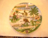 """Vintage Colorful  THE 50th STATE """"Aloha Hawaii""""  PLATE-8 inch, made in Japan"""