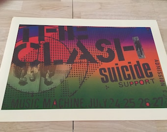 The Clash ,With Suicide, Concert Poster Repro, cool vintage Punk Art