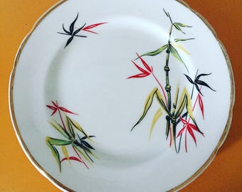 Set of 5x 1950's Floral Sandwich Plates