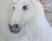 Wild & Free/Horse/Horse Painting/Original Horse Painting/Horse Art/White Horse/FREE SHIPPING