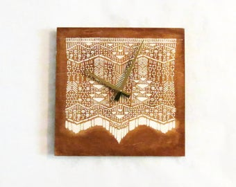 Wall Clock, Tapestry Wall Hanging,   Ready To Ship, Home and Living, Home Decor, Clocks