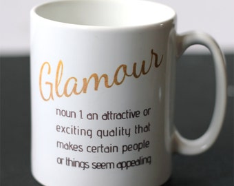 Definition of Glamour Ceramic Mug - Personalisation available