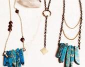 CUSTOM Jasper June necklace with brass beads