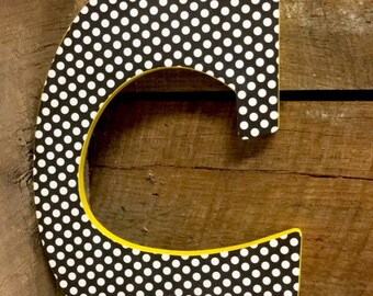 Personalized Hanging Wood Letters