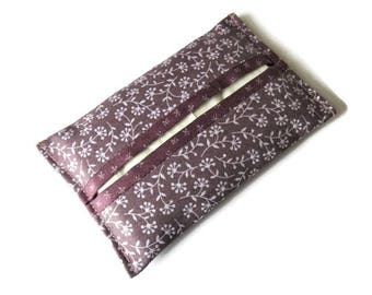 Fabric Paper Handkerchief Holder - Cotton Fabric Cover for Paper Tissues - Kleenex Cover Case - Fabric Case for Paper Hankies
