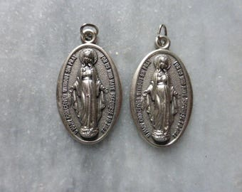 2 X Mary, Immaculate Conception  Pendant, French.
