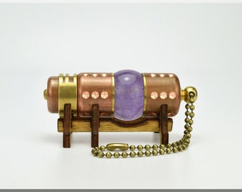 Natural Amethyst stone 8/16/32/64/128GB USB flash drive with wood stand. Handmade Steampunk ART. Best christmas gift. !!! FREE shipping !!!
