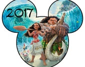 Disney Mickey Mouse Moana Inspired 2017 Iron-On Digital File