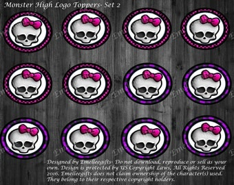 Monster High Logo Toppers (2) ~INSTANT DOWNLOAD~