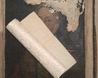 Tissu en soie religeux 19ème  /