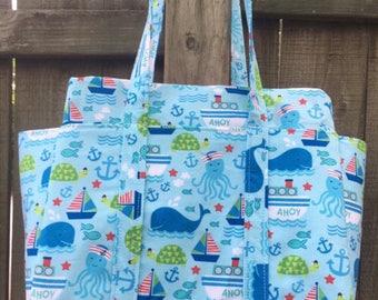 The Nautical theme  Ultimate diaper bag