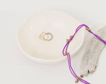 Handmade White Ceramic Bowl White Ceramic Ring Dish ~ White Texture Bowl Jewelry Dish Serving Bowl Ceramic Plate Jewellery Dish Trinket Dish