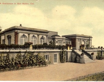 Vintage Postcard...California, San Mateo- A Residence...Used, 1911...no. CA0029