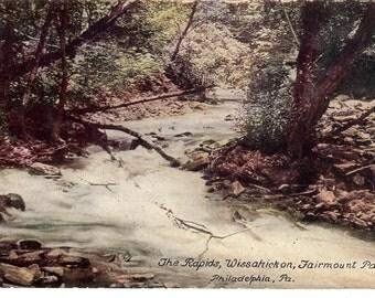 Vintage Postcard....Pennsylvania, Philadelphia, The Rapids Wissahickon, Fairmount Park...Used...no. PA0009