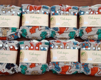 Free shipping 8psc hemp-linen cloth diapers set/pack for baby + merino wool cover for free / full cloth diaper pack / nappy starter