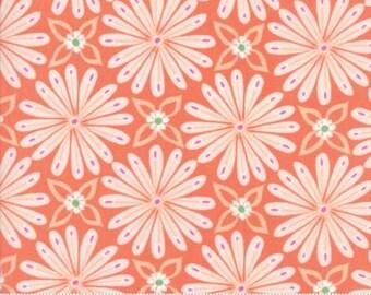Early Bird by Kate Spain for Moda - Floral - Aurora - Orange -Peach - 1/2 Yard Cotton Quilt Fabric