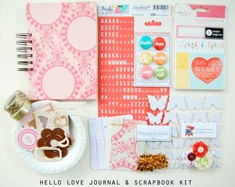 Hello Love Mini Album / Journal and Scrapbook Kit