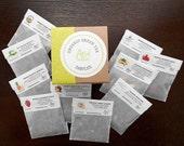 Tea Gift Box / Fathers Day Gift / GREEN TEA SAMPLER /Organic Gift Basket /Under 15 Dollars /  Gift Ideas / Get Well /Tea Favors / Birthday